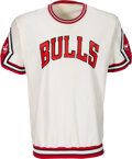 Basketball Collectibles:Uniforms, Mid 1980's Jawann Oldham Game Worn Chicago Bulls Shooting ...