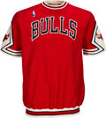 Basketball Collectibles:Uniforms, 1987-88 Gene Banks Game Worn Chicago Bulls Shooting Shirt....