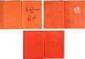 Baseball Collectibles:Publications, 1963-65 Nolan Ryan Signed Alvin High School Yearbooks Lot of 3. ....