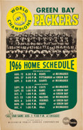 Football Collectibles:Others, 1966 Green Bay Packers Wisconsin Public Service Broadside....
