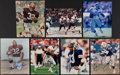 Football Collectibles:Photos, Hall of Fame Running Backs Signed Photograph Collection (7) - Includes Brown, Sanders, Dickerson, & More. . ...