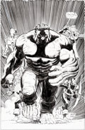 Original Comic Art:Covers, John Romita Jr. and Klaus Janson Avengers V4#7 Cover RedHulk Original Art (Marvel, 2011)....