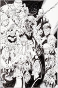 Original Comic Art:Splash Pages, Mark Bagley and Scott Hanna Ultimate End #5 Splash Page 7Ultimate Universe Characters Original Art (Marvel, 2016)...