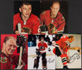 Hockey Collectibles:Photos, Hockey Greats Signed Photograph Collection (5) - Includes Hull,Mikita, & Parent. . ...