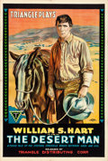 """Movie Posters:Western, The Desert Man (Triangle, 1917). One Sheet (28"""" X 41"""").. ..."""