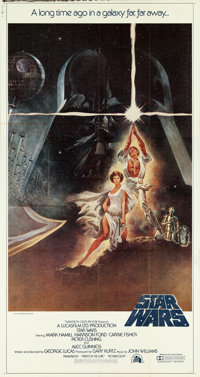 "Star Wars (20th Century Fox, 1977). International Three Sheet (41"" X 77"") Tom Jung Artwork"