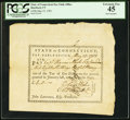 Colonial Notes:Connecticut, Connecticut Pay Table Office £6.8s May 15, 1783 PCGS Extremely Fine45.. ...