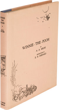 A. A. Milne. Winnie-The-Pooh. [New York]: Dutton, [1926]. First U. S. edition, large paper issu