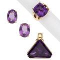 Estate Jewelry:Suites, Amethyst, Gold Jewelry Suite. ... (Total: 3 Items)