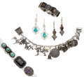 Estate Jewelry:Lots, Multi-Stone, Sterling Silver Jewelry. ... (Total: 7 Items)