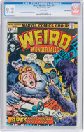Bronze Age (1970-1979):Horror, Weird Wonder Tales #7 White Mountain Pedigree (Marvel, 1974) CGCNM- 9.2 White pages....