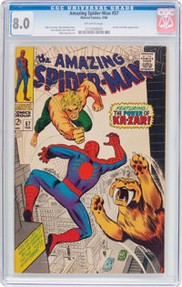 The Amazing Spider-Man #57 (Marvel, 1968) CGC VF 8.0 Off-white pages