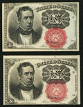 Fractional Currency:Fifth Issue, Two Fr. 1266 10¢ Fifth Issue Notes Choice New.. ... (Total: 2notes)
