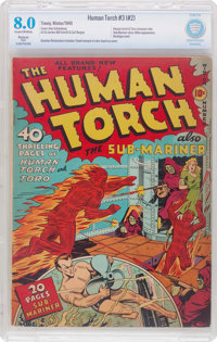 The Human Torch #3 (#2) (Timely, 1940) CGC Restored VF 8.0 (Slight) Cream to off-white pages