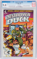 Modern Age (1980-Present):Humor, Destroyer Duck #1 (Eclipse, 1982) CGC NM 9.4 White pages....