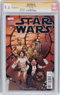 Modern Age (1980-Present):Science Fiction, Star Wars #1 McLeod Variant Cover - Signature Series (Marvel, 2015)CGC NM+ 9.6 White pages....