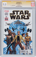Modern Age (1980-Present):Science Fiction, Star Wars #1 Signature Series (Marvel, 2015) CGC VF/NM 9.0 Whitepages....