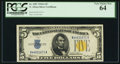 Small Size:World War II Emergency Notes, Fr. 2307 $5 1934A North Africa Silver Certificate. PCGS Very ChoiceNew 64.. ...