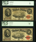 Large Size:Legal Tender Notes, Two Fr. 60 $2 1917 Legal Tender Notes PCGS Very Good 10 PCGS Fine12.. ... (Total: 2 notes)