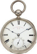 """Timepieces, William Howard & Co. Boston """"The American Watch"""" Silver KeyWind. ..."""