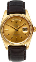Timepieces, Rolex Ref. 18000 Gold Oyster Perpetual Day-Date, circa 1980. ...