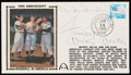 Autographs:Index Cards, Willie Mays, Mickey Mantle and Duke Snider Multi-Signed First Day Cover. . ...