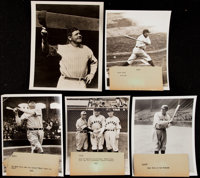 Babe Ruth Type II Photograph Collection (10)