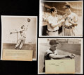 Baseball Collectibles:Photos, Joe DiMaggio & Ted Williams Type II Photograph Trio (3). . ...