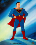 Animation Art:Presentation Cel, Myron Waldman Fleischer Superman Limited EditionPresentation Cel 54/500 (Warner Brothers, 1995)....
