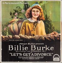 """Let's Get a Divorce (Paramount, 1918). Six Sheet (80"""" X 82""""). Comedy"""
