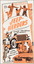 "Movie Posters:Action, Jeep-Herders & Other Lot (Astor Pictures, R-1949). Three Sheet (41"" X 77.5"") & Partial Three Sheet (41"" X 68""). Action.. ... (Total: 2 Items)"