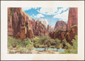 "Movie Posters:Miscellaneous, Zion National Park (Union Pacific RR, c.1950/1960s). Travel Poster (26"" X 36""). Miscellaneous.. ..."