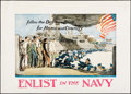 "Movie Posters:War, World War I Propaganda (U.S. Navy Publicity Bureau, 1918). Poster(20.75"" X 29"") ""Enlist in the Navy."" War.. ..."