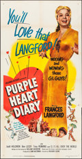 "Movie Posters:Drama, Purple Heart Diary (Columbia, 1951). Folded, Very Fine-. Three Sheet (41"" X 80""). Drama.. ..."