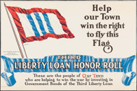 "World War I Lot (U.S. Treasury Department, 1917). Third Liberty Loan Poster (24"" X 36"") ""Help Our Town Wi..."