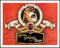 "Stars of MGM (Nostalgia Merchant, 1978). Autographed Artist Proof Poster (24"" X 30""). Miscellaneous. ... (Tota..."
