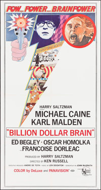 "Billion Dollar Brain (United Artists, 1967). Three Sheet (41"" X 77""). Thriller"