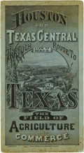 "Books:Maps & Atlases, [Map]. The ""Bird's-eye View"" of the 1878 Houston and TexasCentral Through Route to Texas,..."