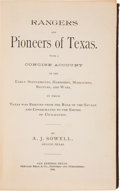 Books, A. J. Sowell. Rangers and the Pioneers of Texas...