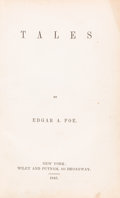 Books:Mystery & Detective Fiction, Edgar Allan Poe. Tales. New York: Wiley and Putnam, 1845. First edition, first printing with the imprints of T. B. S...
