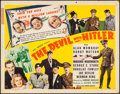 """Movie Posters:Comedy, The Devil with Hitler (United Artists, 1942). Half Sheet (22"""" X 28""""). Comedy.. ..."""