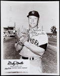 """Autographs:Photos, Vintage Mickey Mantle Signed """"Rawlings"""" Photograph...."""