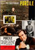 "Movie Posters:Foreign, Porcile & Other Lot (INDIEF, 1969). Italian Vertical Photobustas (2) (26.25"" X 37.75"", 26.5"" X 37""). Foreign.. ... (Total: 2 Items)"