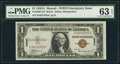 Small Size:World War II Emergency Notes, Fancy Serial Number S54515555C Fr. 2300 $1 1935A Hawaii Silver Certificate. PMG Choice Uncirculated 63 EPQ.. ...
