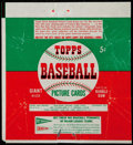 Baseball Cards:Unopened Packs/Display Boxes, Scarce 1952 Topps Baseball 5-Cent Wax Pack Wrapper. ...