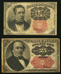 Fractional Currency:Fifth Issue, Fifth Issue Fractionals.. ... (Total: 2 notes)