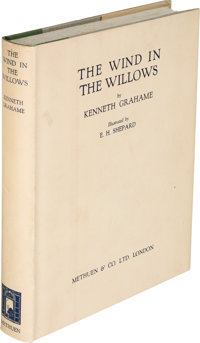 Kenneth Grahame. The Wind in the Willows. London: Methuen & Co., [1931]. First edition with Ern