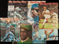 Autographs:Photos, 1970's Sporting News Signed Covers Lot of 38.. ...