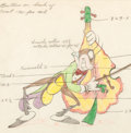 Animation Art:Production Drawing, Woodland Café Grasshopper Color Model Animation Drawing(Walt Disney, 1937). ...