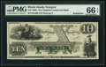 Obsoletes By State:Rhode Island, Newport, RI- New England Commercial Bank $10 18__ Remainder. ...